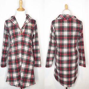 NWOT Lauren Ralph Lauren Plaid Fleece Nightgown xs